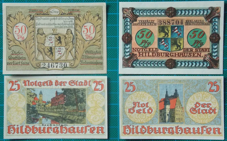 1921 HILDBURGHAUSEN NOTGELD BANKNOTE SET