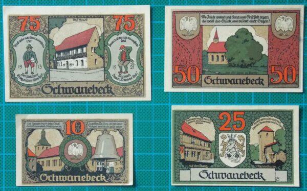 1921 SCHWANEBECK NOTGELD BANKNOTE SET