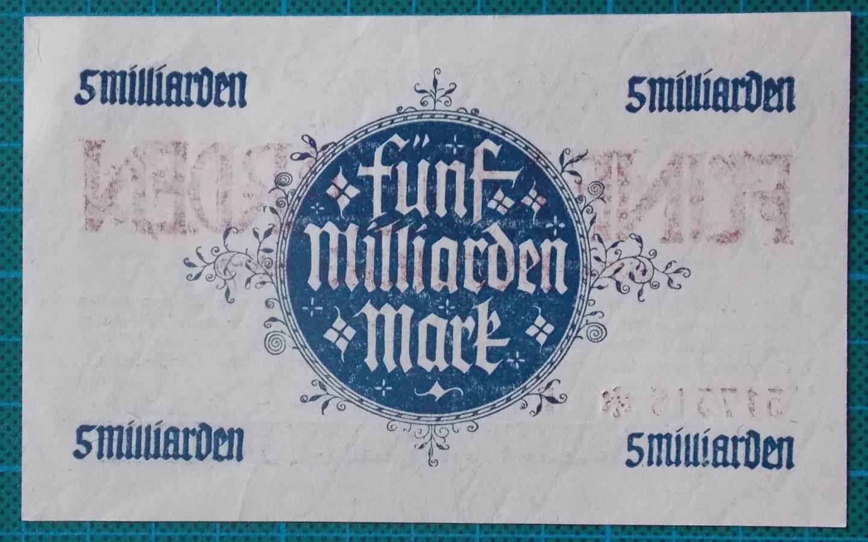 1923 HESSISCHE LANDESBANK 5 BILLION MARK 517517E