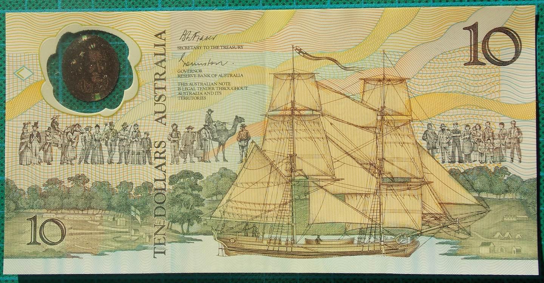 1988 Australia Ten Dollars Bicentennial Issue AB23 94