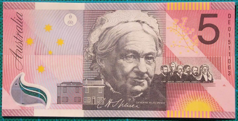 2001 Five Dollars Centenary of Federation DE01