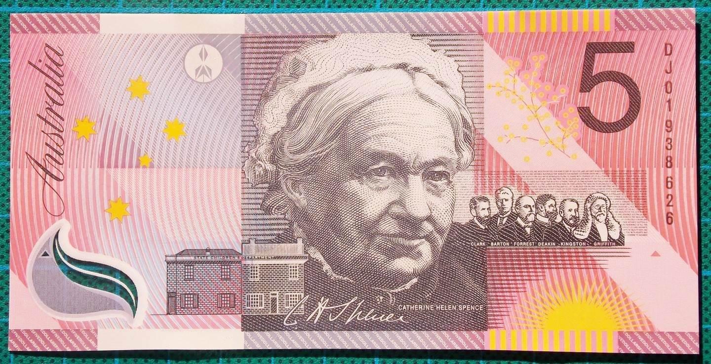 2001 Five Dollars Centenary of Federation DJ01 Pair