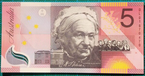 2001 Five Dollars Centenary of Federation DL01