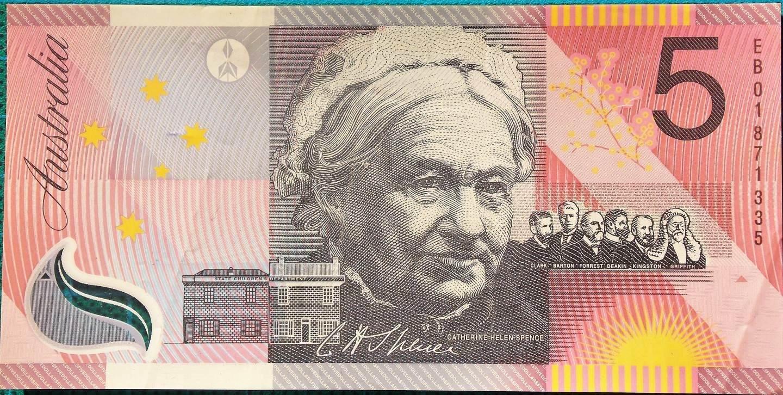 2001 Five Dollars Centenary of Federation EB01