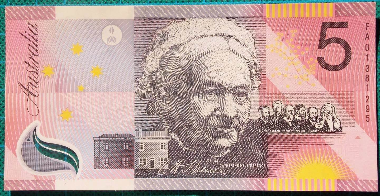 2001 Five Dollars Centenary of Federation FA01