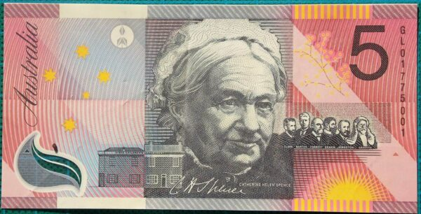 2001 Five Dollars Centenary of Federation GL01
