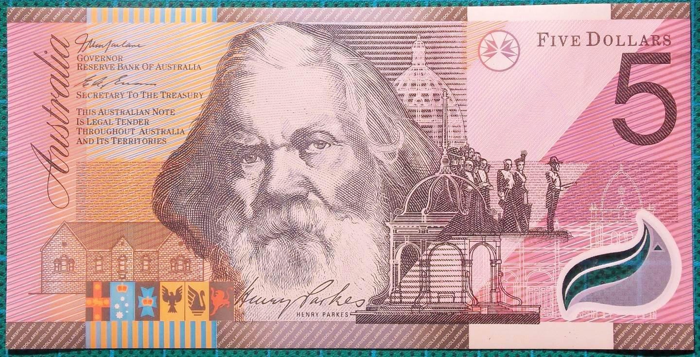 2001 Five Dollars Centenary of Federation FC01