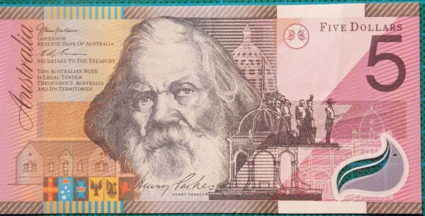 2001 Five Dollars Centenary of Federation FF01