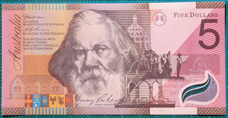 2001 Five Dollars Centenary of Federation GB01