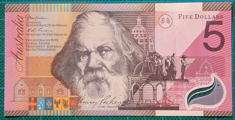 2001 Five Dollars Centenary of Federation IG01 UNC