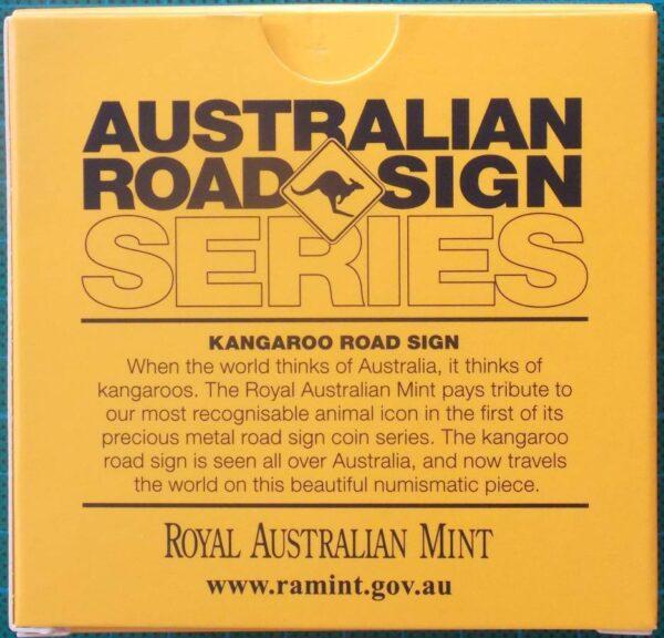 2013 Australia 1 oz Silver Kangaroo Road Sign Coin