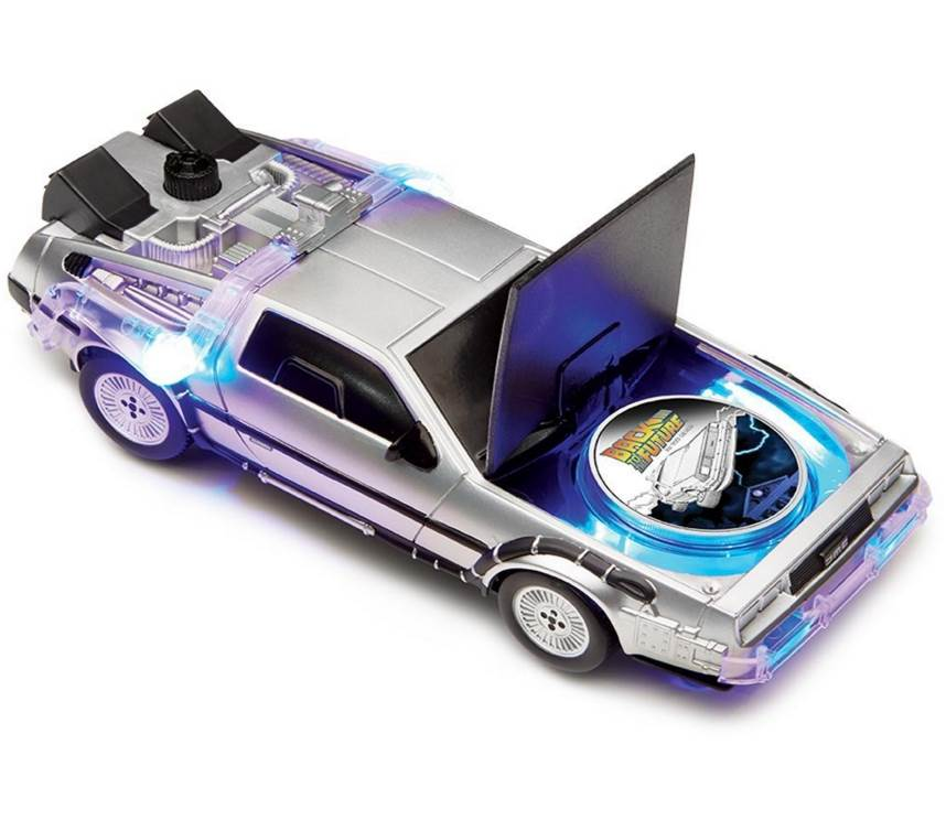 2015 Back To The Future One ounce silver coin and car.