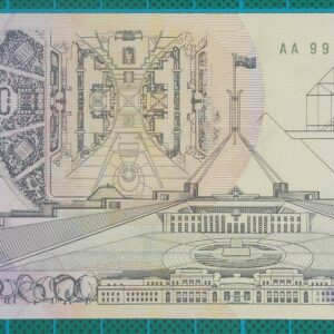 1992 Australia Five Dollars Polymer AA99-Pale Green Serial