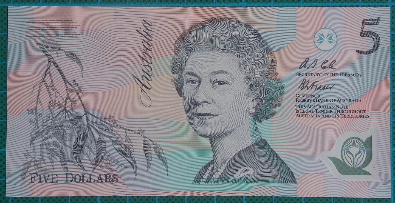 1992 Australia Five Dollars Polymer AA04