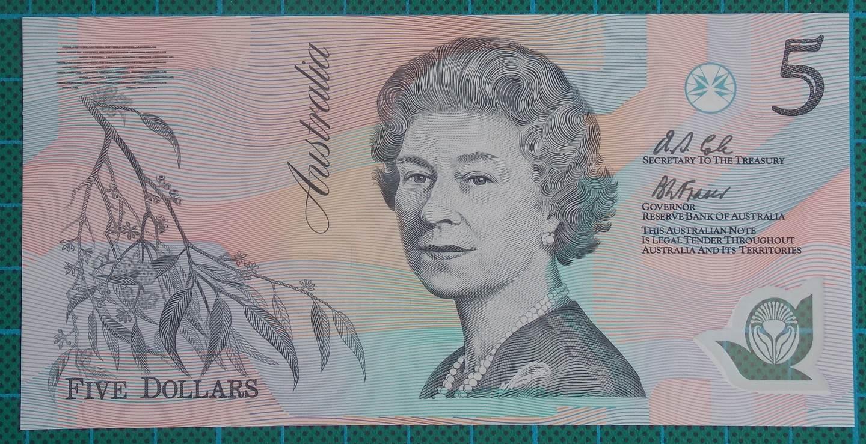 1992 Australia Five Dollars Polymer AA05