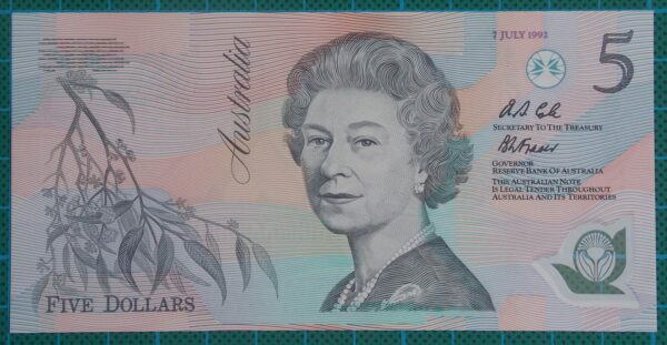 1992 Australia Five Dollars Polymer AA13
