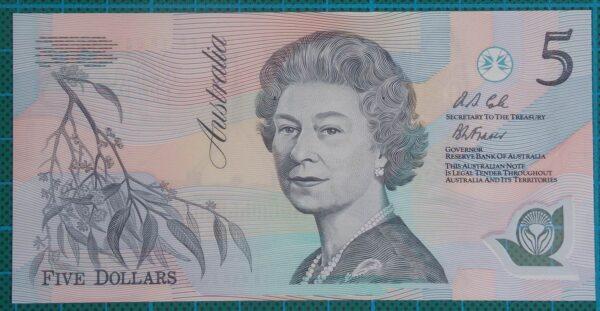 1992 Australia Five Dollars Polymer AA18