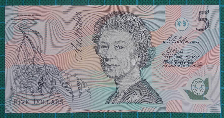 1992 Australia Five Dollars Polymer AA81