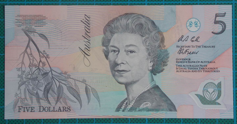 1992 Australia Five Dollars Polymer AA88