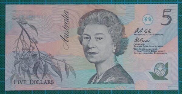 1992 Australia Five Dollars Polymer - AB09