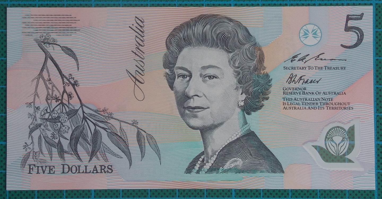 1993 Australia Five Dollars Polymer Last Prefix - EA93