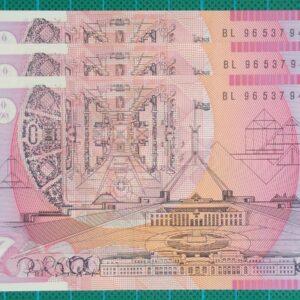 1996 Australia Five Dollars Polymer BL96 x 3