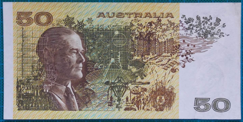 1983 Australia Fifty Dollars YHJ First Prefix
