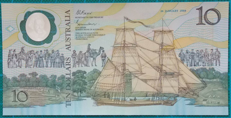 1988 Australia $10 Bicentennial AA00 First Prefix