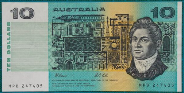 1991 Australia Ten Dollars MPB Without PIL