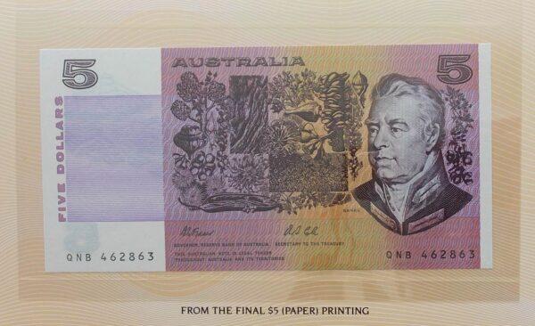1991-2 $5 Australia Last and First NPA Folders