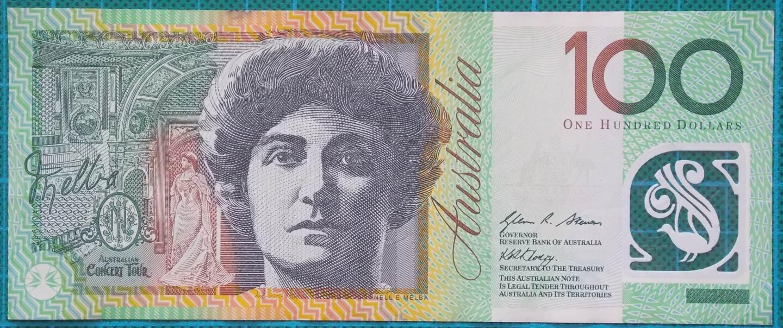 2008 Australia One Hundred Dollars Banknote EB08