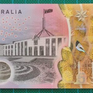2016 Australia Five Dollars Next Generation Banknote AJ16x3