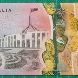 2016 Australia Five Dollars Next Generation Banknote EB16x2