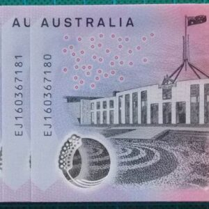 2016 Australia Five Dollars Next Generation Last Prefix EJ16 x 10