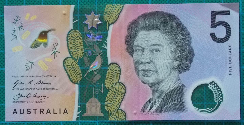 2016 Australia Five Dollars Next Generation First Prefix AA16 -1