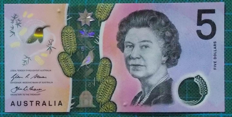 2016 Australia Five Dollars Next Generation First Prefix AA16 -2