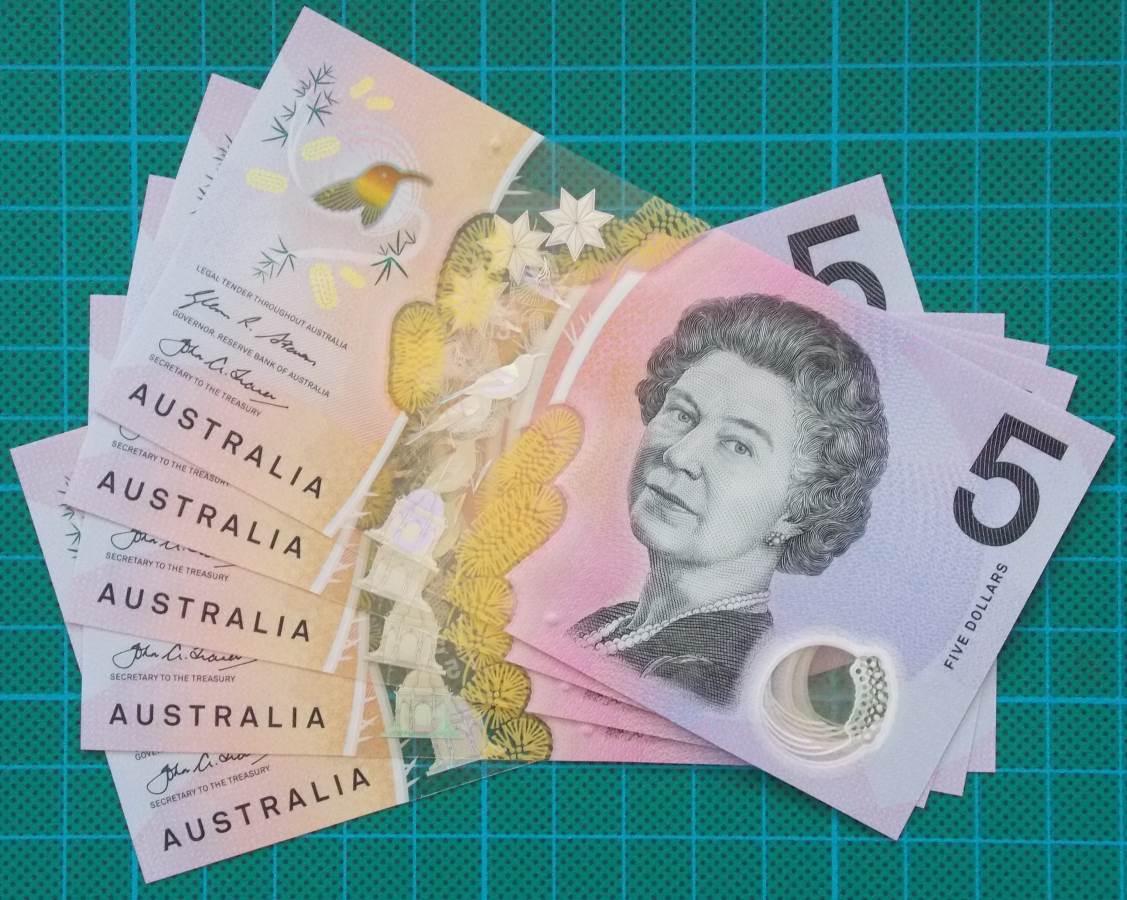 2016 Australia Five Dollars Next Generation First Prefix AA16 x 5