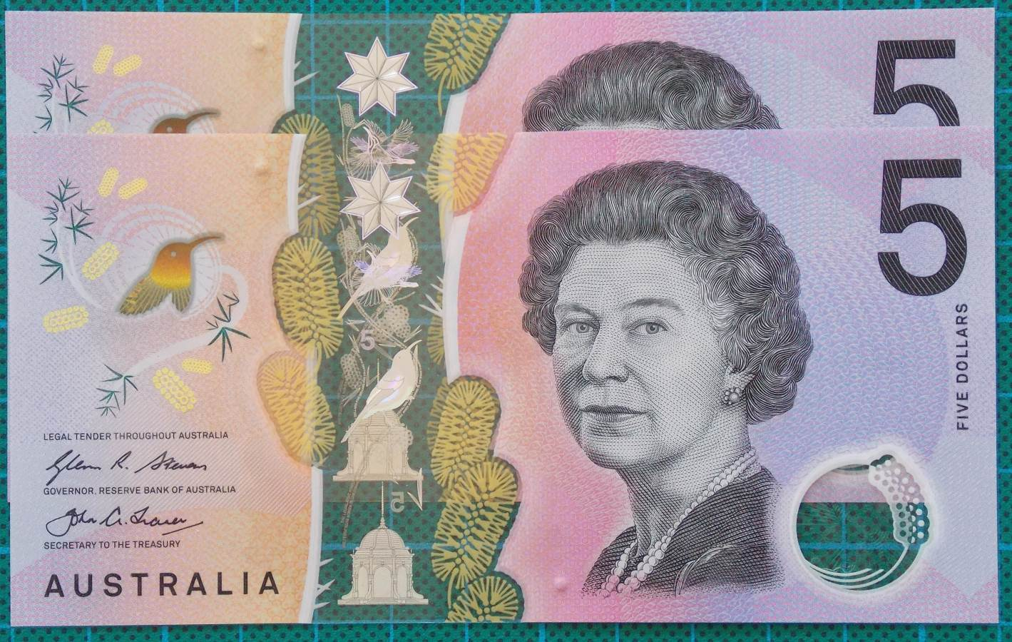 2016 Australia Five Dollars Next Generation First and Last Prefix AA-EJ -4