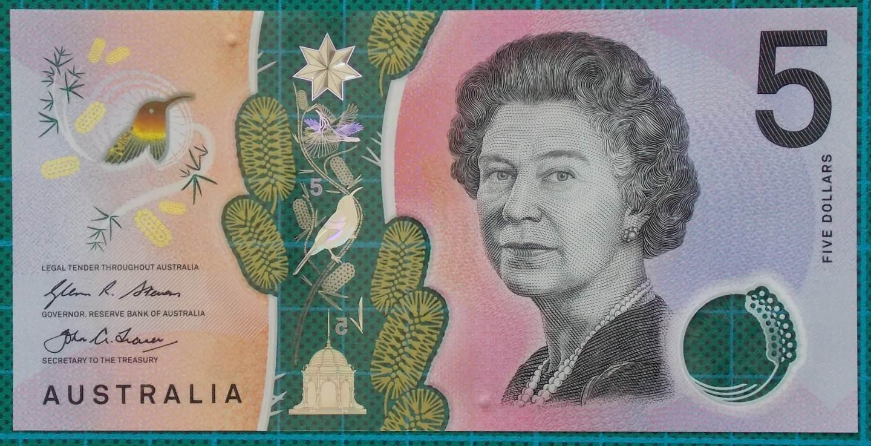 2016 Australia Five Dollars Next Generation Banknote AI16