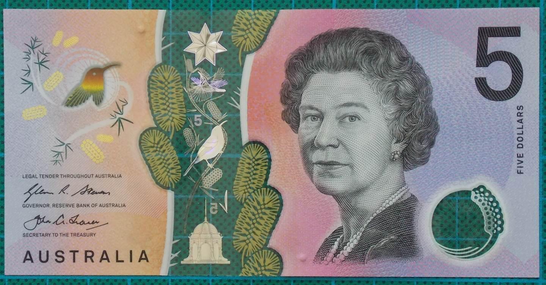 2016 Australia Five Dollars Next Generation Banknote BG16