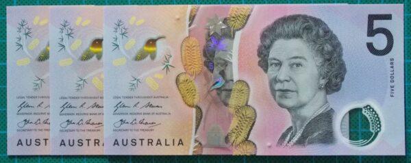 2016 Australia Five Dollars Next Generation Banknote EB16x3
