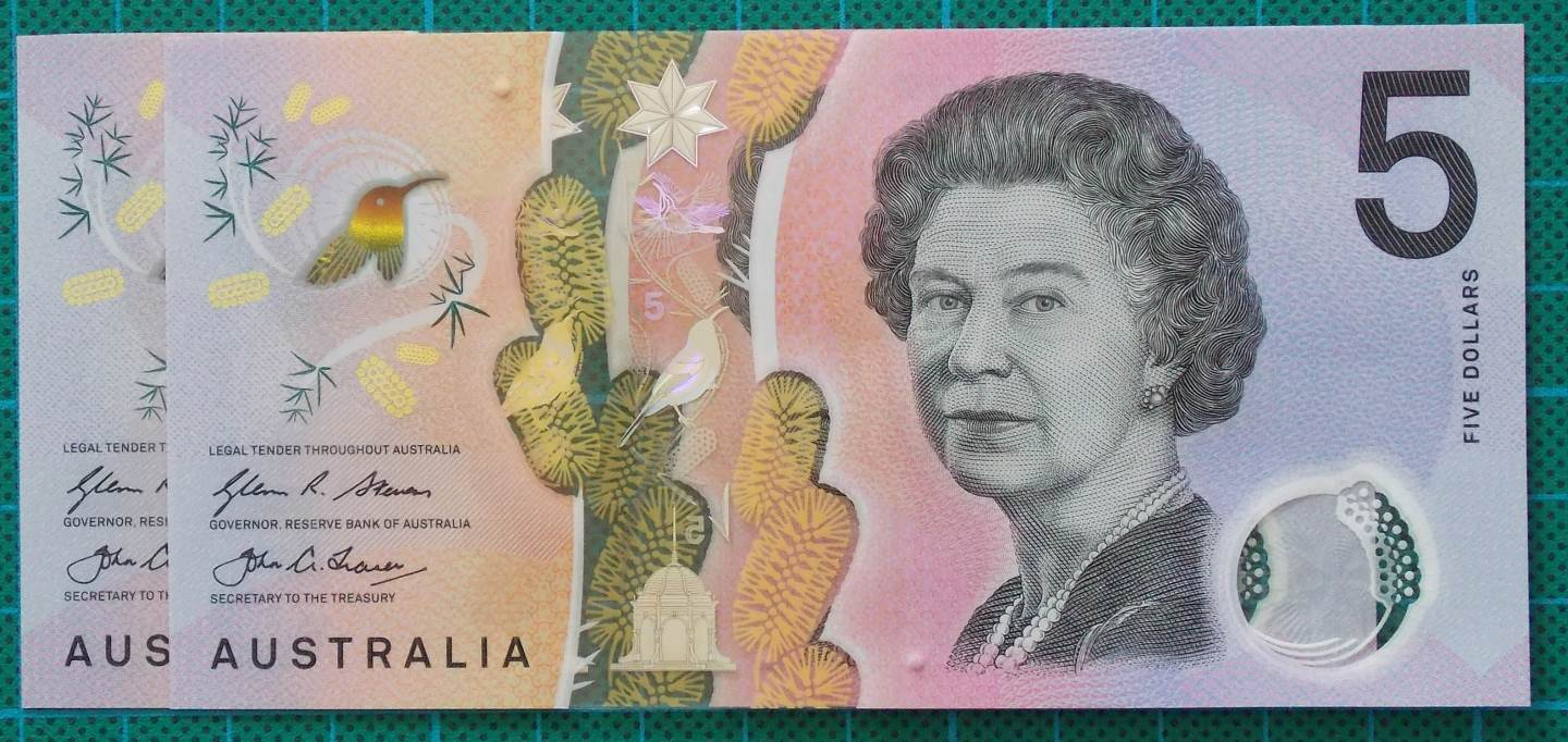 2016 Australia Five Dollars Next Generation Banknote EB16x2