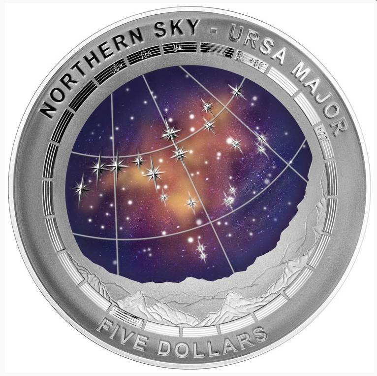 2016 Northern Sky Ursa Major $5 Silver Domed Coin